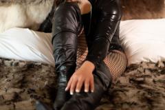 Cute Crossdresser in black bodysuit