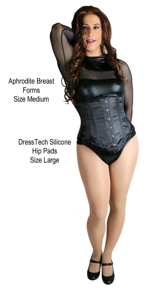 Diana with LARGE DressTech crossdressing hip pads and MEDIUM Aphrodite breast forms