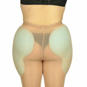 Foam hip pads under panty hose back view