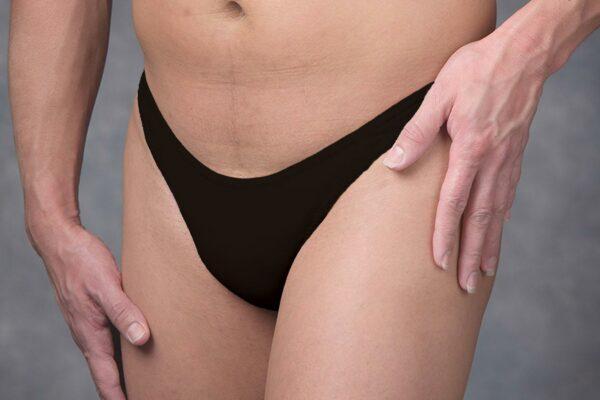 Crossdressing gaff, underwear, black