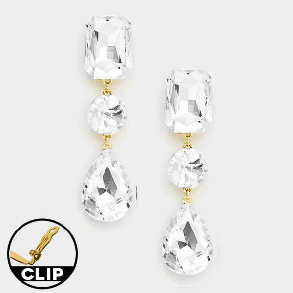 DT6013G Clip On Earrings
