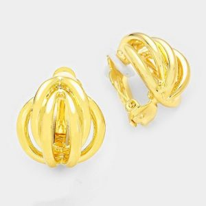 DT6019G Clip On Earrings