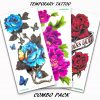 Tattoo Combo Pack_Giant Flower Bundle