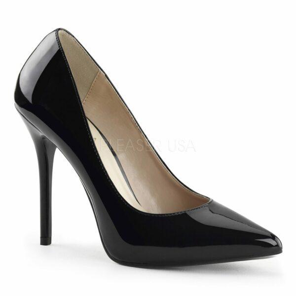 Debbie heels for men black patent leather