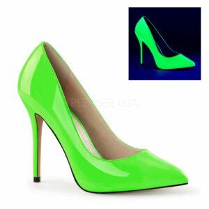 Debbie heels for men neon green