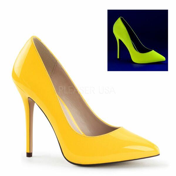 Debbie heels for men neon yellow