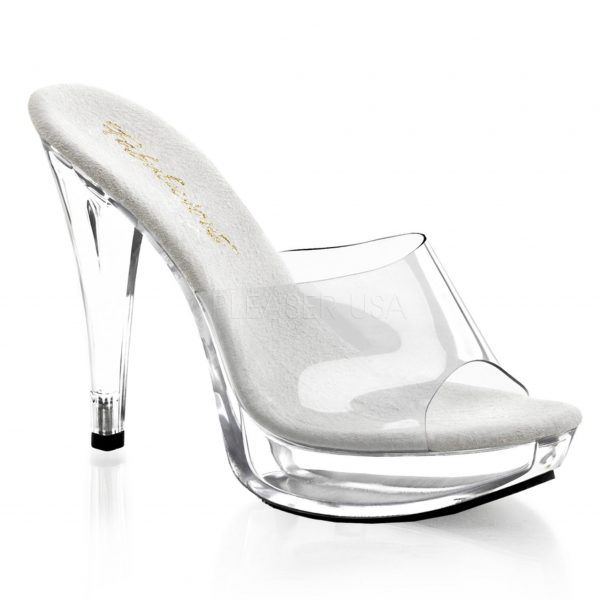 Marsha heels for men clear/clear/white