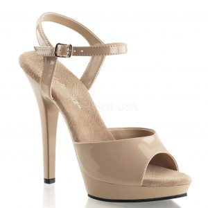 Beth crossdressing sandal heels for men - nude