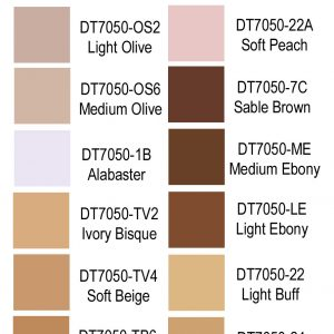 Drag Queen Foundation Stick Color Chart