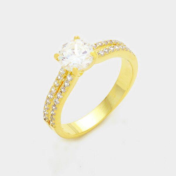 Gold Ring 1 Crystal