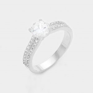 Silver Ring 1 Crystal