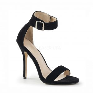Amber Crossdressing heel – black velvet