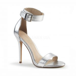 Amber Crossdressing heel - silver