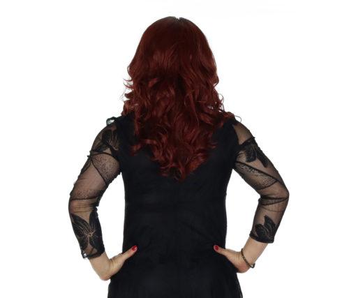 crossdressing dress with arm slimming sleeves