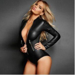 crossdresser bodysuit with zippers