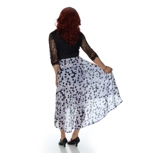 vintage crossdressing dress, rear view