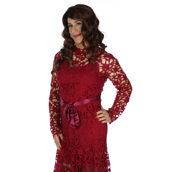 Crossdresser Red Dress
