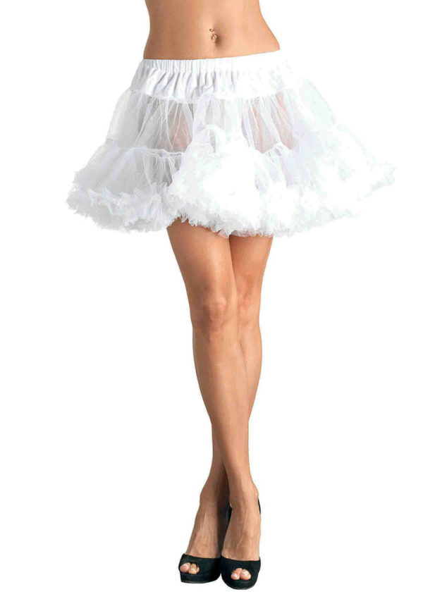 White Crossdresser Petticoat