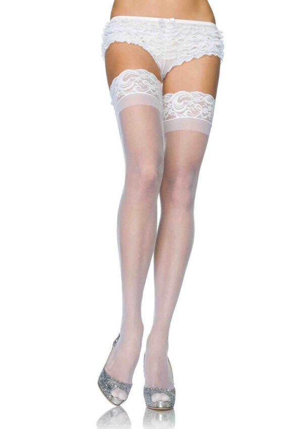 White Crossdresser Stockings