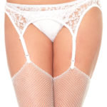 White Crossdresser Garter Belt And Thong