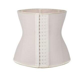 Nude crossdressing waist trainer front view