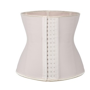 Nude crossdressing waist trainer front view