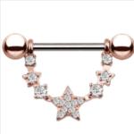Star Nipple Piercing