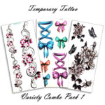 Temporary Tattoo Variety Pack 1