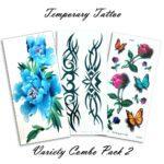 Temporary Tattoo Variety Pack 2